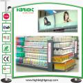 Popular Double Sided American Style Grocery Store Storage Gondola Shelf