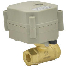 OEM Válvula de agua eléctrica de 2 vías Motorizada automática de agua cerrada válvula de latón (T8-B2-C)