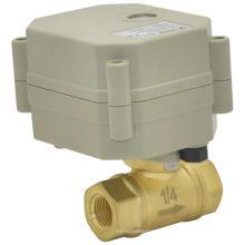 Mini vanne à bille en laiton à commande électrique Valve à bille à eau à débit motorisé