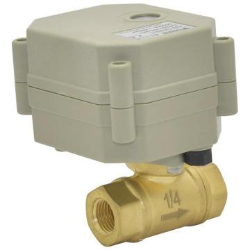 Valve d'eau électrique OEM à 2 voies Valve automatique en laiton à fermeture automatique motorisée (T8-B2-C)