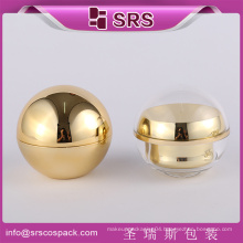 SRS hot sale and high quality cosmetic ball shape packaging cream jar container