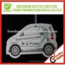 Kundenspezifische Werbe Auto Papier Lufterfrischer