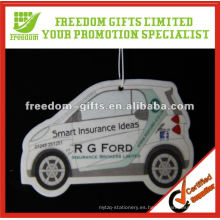 Ambientador de aire promocional modificado para requisitos particulares del papel del coche