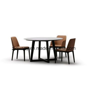 Table de marbre mobilier Table ronde en bois (E-32)