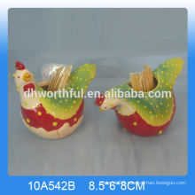 High quality ceramic rooster toothpick holder for kitchen