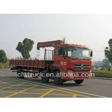 Venta caliente 3 ejes Dongfeng grúa de camión de grúa, 10 toneladas de nudillo grúa camión grúa montada