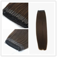 Best Seller in Korea & Japan High Quality 18inch Brown Color Nature Black Color Human Hair Remy Hair Virgin Hair Knot Thread Hair Extensions