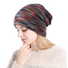 3 cores choise moda das mulheres de tricô cap pony caudas inverno chapéu de malha