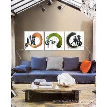 Grupo decorativo pintura a óleo 3 painéis