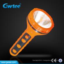Lampe torche électrique à l'extérieur en plastique / torche avec forme de chapeau de paille