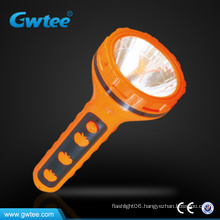 Outdoor Plastic electric LED flashlight/Torch with straw hat shape