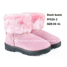 Latest Injection Boots MID-Calf Boots Comfortable Snow Boots Winter Boots Stock Shoes (FF328-2)