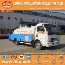 DONGFENG 4x2 LHD / RHD 5000L camion de chasse d'égout moteur 120hp bon marché
