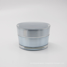 factory direct double round 50g acrylic plastic jars cosmetics packaging