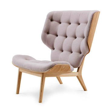Réplica Cadeira Mammoth bentwood alta back wing chair