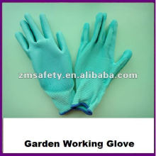 Nylon PU Coated Garden Working Glove For General Handling
