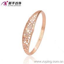 Nuevo brazalete delicado del zircon del color del color de oro de la manera