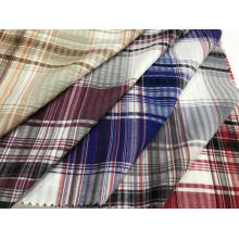 Tissu T / C froissé teint en fil