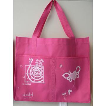 High quality custom multiple pocket pink non-woven bag