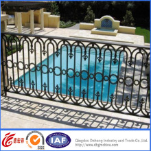 Powder Coated Decorative Wrought Iron Pool Fence