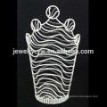Couronnes de concours en gros, couronnes de grand cristal de mode, couronnes personnalisées grande tiare de mariage,