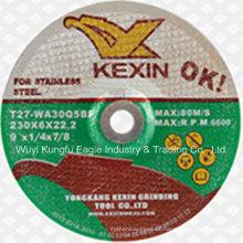 Forma plana de acero inoxidable pulido disco con precio barato