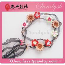 Pure Handmade Crochet Necklace Garnet Handmade Woven Belt