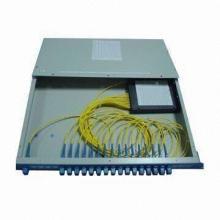 GB-FBT Fiber Splitter Rack, 19-inch Rack Mount, 1,310/1,490/1,550nm Wavelength, 64 Output
