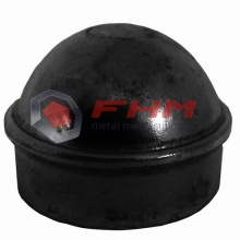 Black PVC Coated Pagar Post Cap