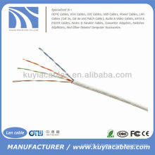1000FT Cat5e UTP Solid White Network Cable Ethernet Cat5 Bulk Wire RJ45 Lan Cable Box