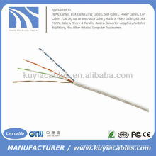 1000FT Cat5e UTP Rede Branca Sólida Cabo Ethernet Cat5 Bulk Wire RJ45 Lan Caixa de Cabo