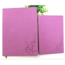 Negócio Imitação De Couro PU Notebook, Red Cover Notebook Grid Impresso