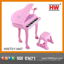 37 teclas de múltiples funciones de instrumentos musicales de juguete rosa niño piano