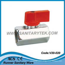 Male X Male Brass Mini Ball Valve (V20-020)