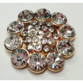 Round Alloy Shoe Buckles with Rhinestone