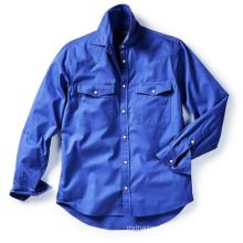 Latest fashion   100% Cotton full placket workshirt for men  long sleeve shirt