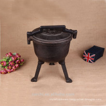 camp cook set metal cauldron dutch pot