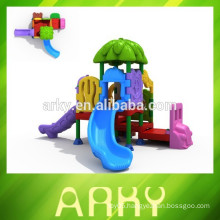 2015 KFC kids play slide outdoor garden play house commercial playground for sale