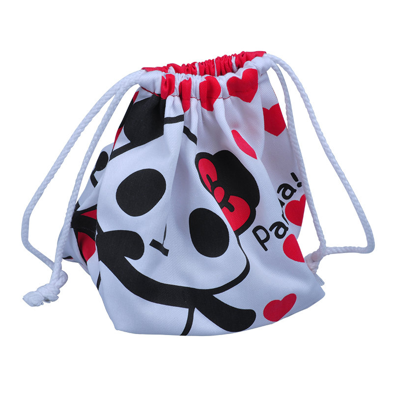 Cotton panda bag with cotton rope