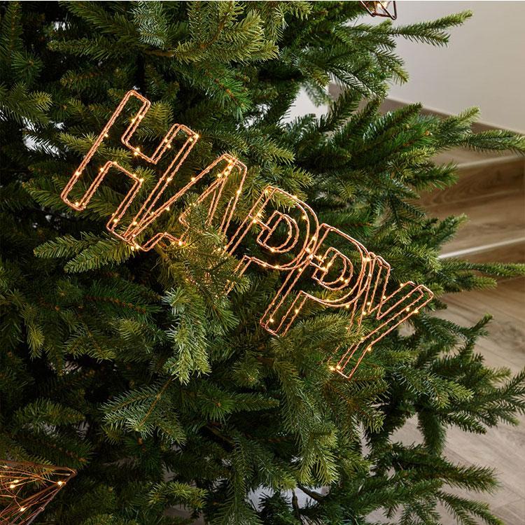Letter happy light