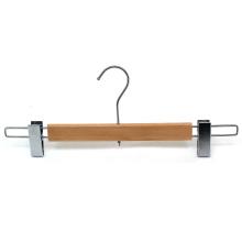 Hohe Belastung mit verstellbarer Holzboden Clips Kleiderbügel