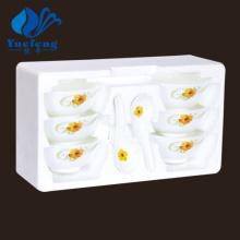 Resistente al calor Opal cristalería-12PCS sopa conjunto