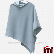 Blue Color Pure Mongolian Cashmere Poncho