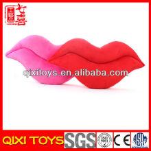 Logo personnalisé belle et mignonne oreiller en peluche en forme de lèvre