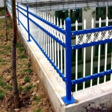 Ornamental small zinc coated steel garden fence