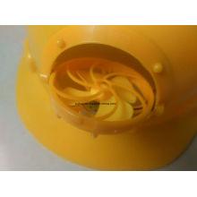 Die neueste Hot Style Fan Helm Bau Helm ABS Sicherheitshelm, Ce Zertifikat HDPE oder ABS Material Bau Sicherheit Helm mit Fan Helm
