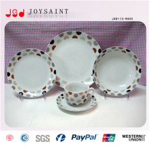 Microwave Safe Elegant Europe Style Bone China Porcelain Dinner Set