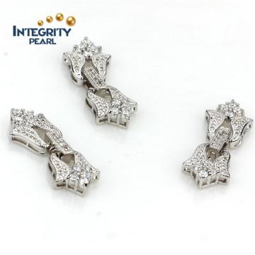 Perlen-Schmucksache-Haken-Verschluss-Gold überzogene Haken-Perlen-Halsketten-Schmucksache-Wölbungs-Haken