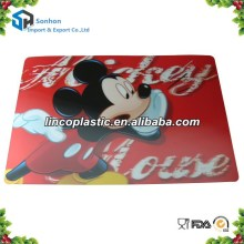 Hot Selling PP Plastic Table Mat/ 3D Lenticular Placemat