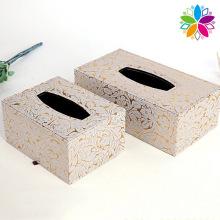 Fashion Rectangle PU Tissue Box (ZJH058)